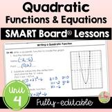 Quadratic Functions SMART Board® Bundle (Algebra 2 - Unit 4)