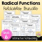 Radical Functions FOLDABLES™ (Algebra 2 - Unit 6)