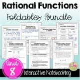 Rational Functions Foldables™ (Algebra 2 - Unit 8)