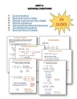 Rational Functions SMARTBOARD Lessons Bundle