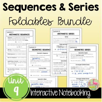 Algebra 2: Sequences and Series FOLDABLES Bundle
