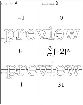 Summation / Sigma Notation algebra2