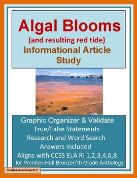 ALGAL BLOOMS Study for Textbook Article