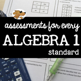 ALGEBRA 1 - ASSESSING EVERY STANDARD (bundle)