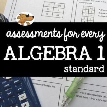 ALGEBRA 1 - ASSESSING EVERY STANDARD (bundle)