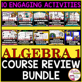 END OF YEAR Activities: Algebra 1 Review Bundle