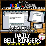 ALGEBRA 1 GOOGLE FORMS WARM UPS Bundle (FULL YEAR of Bell Ringers/Exit Tickets)