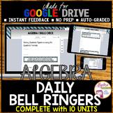 ALGEBRA 1 GOOGLE FORMS WARM UPS Bundle (FULL YEAR of Bell