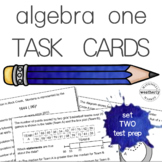 ALGEBRA 1 TEST PREP#2 - task cards (with paper version)