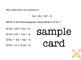 ALGEBRA 1 TEST PREP#1 - task cards (with paper version)