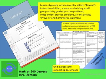 ALGEBRA 1 - UNIT 1: Solving Linear Equations                   Curriculum Bundle