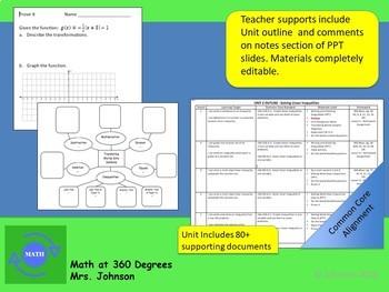 ALGEBRA 1 - UNIT 2: Solving Linear Inequalities Curriculum Bundle