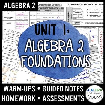 Algebra 2 Foundations Unit (Algebra 2 Curriculum) by Algebra and Beyond