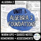 Algebra 2 Foundations Unit Bundle (Algebra 2 Curriculum)