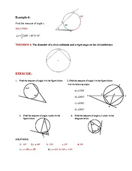 GEOMETRY:  ANGLES FORMED BY SECANTS, CHORDS, & TANGENTS