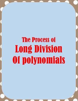 ALGEBRA: LONG DIVISION OF POLYNOMIALS