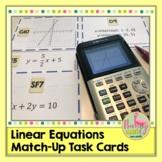 Algebra 2: Linear Match-Up Task Cards Activity