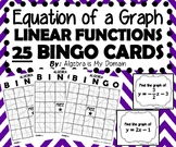 ALGEBRA BINGO - Equations of Linear Functions (Slope-Intercept Form)
