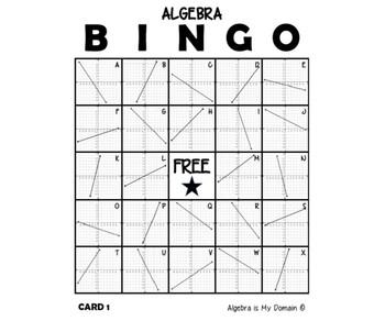 ALGEBRA BINGO - Equations of Linear Functions (Slope-Intercept Form)