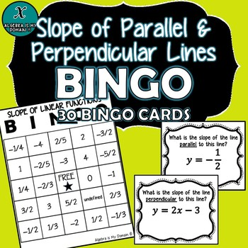 ALGEBRA BINGO - Parallel & Perpendicular Lines - Slope Bingo