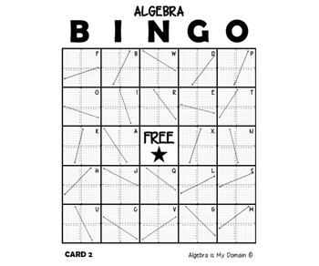 ALGEBRA BINGO - Slope of Linear Functions
