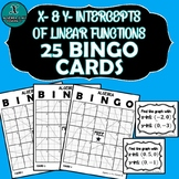 ALGEBRA BINGO - X- & Y-Intercepts of Linear Functions