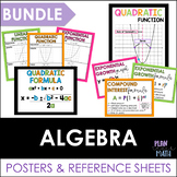 Algebra Posters and Reference Sheets