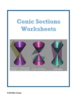 ALGEBRA:  CONIC SECTIONS Worksheet