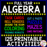 ALGEBRA 1 CURRICULUM: 125 Algebra Activities