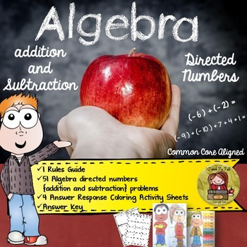 ALGEBRA DIRECTED NUMBERS {ADDITION AND SUBTRACTION}COLOR BY ANSWER
