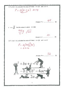 ALGEBRA EXERCISES FOR YOUR STUDENTS - ANSWERS