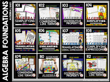 ALGEBRA FOUNDATIONS Bundle