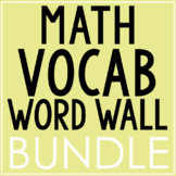 ALGEBRA & GEOMETRY Vocabulary Posters BUNDLE | Word Wall | Test Prep | EDITABLE