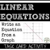 Graphing Linear Equations Task Card Activity