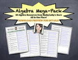 ALGEBRA MEGA-PACK! HUGE BUNDLE! 48 Resources in ONE PLACE