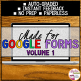 Algebra 1 Distance Learning Made for Google Forms, Volume 1