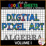 Google Sheets Digital Pixel Art Algebra Bundle Volume 1
