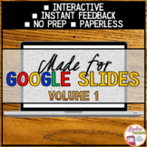 Algebra 1 Distance Learning Made for Google Slides, Volume 1