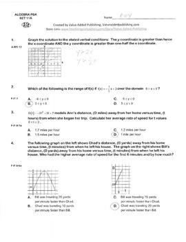 ALGEBRA PBA/EOY PRACTICE SET 11