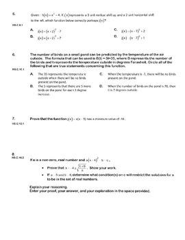 ALGEBRA PBA/EOY PRACTICE SET 13