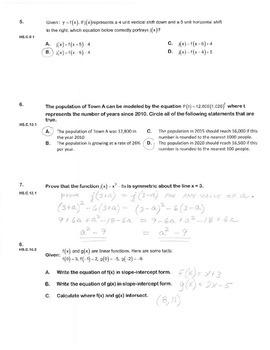 ALGEBRA PBA/EOY PRACTICE SET 14