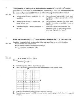 ALGEBRA PBA/EOY PRACTICE SET 15