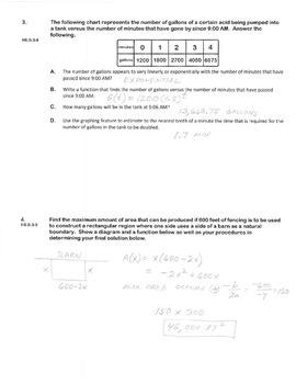 ALGEBRA PBA/EOY PRACTICE SET 18