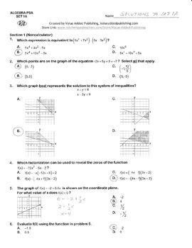 ALGEBRA EOY (AIR) PRACTICE SETS 1-20