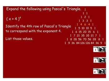 ALGEBRA - SMART Notebook - Binomial Expansion with Pascal's Triangle
