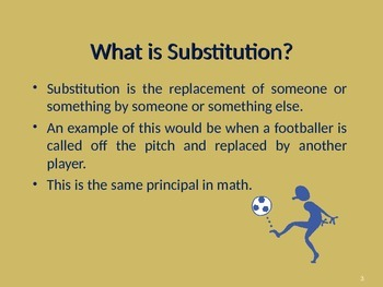 ALGEBRA - SUBSTITUTION