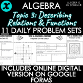 ALGEBRA - TOPIC 3 - Daily Problem Set, Bellringers - DISTA