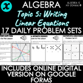 ALGEBRA - TOPIC 5 - Daily Problem Set, Bellringers - DISTA
