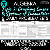 ALGEBRA - TOPIC 7 - Daily Problem Set, Bellringers - DISTA