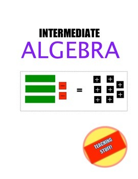 ALGEBRA UNIT HANDOUTS and TEST - INTERMEDIATE LEVEL